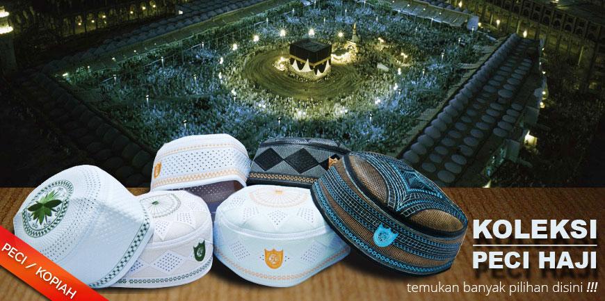 Grosir Peci Kopiah Songkok – Hitam, Rajut, Kopyah Putih Haji