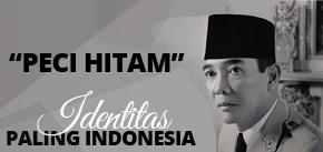 Songkok Hitam Bung Karno, Peci Soekarno, Kopiah President - peci hitam polos