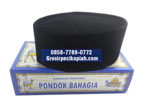 Jual Grosir Songkok Pondok Bahagia VIP Hitam Polos Peci Kopiah Bludru - 20150915 131941 Copy 500x375