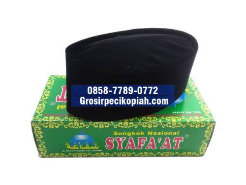 Jual Grosir Songkok Syafaat Harga Murah Peci Kopiah Hitam Polos Bludru - 20150915 133609 Copy 500x375
