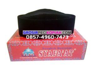 Jual Grosir Peci / Songkok Syafaat Susun Hitam Polos Kopyah / Kopiah